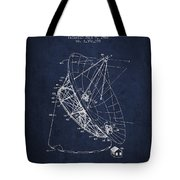 Radio Telescope Patent From 1968 - Navy Blue Tote Bag