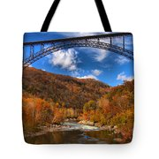 Rafting Down The New River Gorge Tote Bag