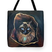 Cat Painting. Ragdoll Cat The Cat's In The Bag Tote Bag
