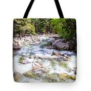 Rageing River Below Falls Tote Bag
