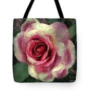 Ragged Satin Rose Tote Bag