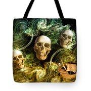 Raging Wars Of Pirates Past Tote Bag