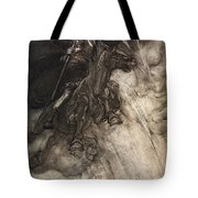 Raging, Wotan Rides To The Rock! Like Tote Bag by Arthur Rackham