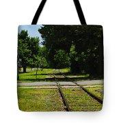 Rail Crossing Tote Bag
