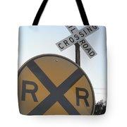 Rail Road Crossing Tote Bag