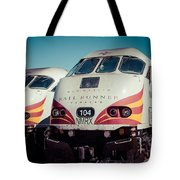 Rail Runner Twins Tote Bag
