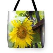 Railed Sunflower Tote Bag