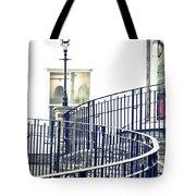 Railings And Lamp Tote Bag