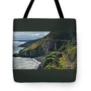 Railroad Through Bray Head, Ireland Tote Bag