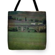 Railroad Bridge At Rosalia Texture Tote Bag