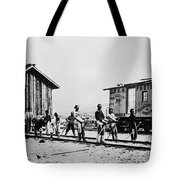 Railroad Chinese Workers Tote Bag
