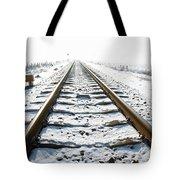 Railroad In Snow Tote Bag