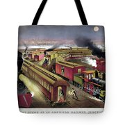 Railroad Junction, C1876 Tote Bag