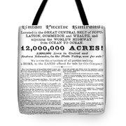 Railroad Land Sale, C1870 Tote Bag