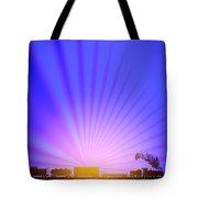 Railroad Sunrise Tote Bag