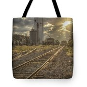 Railroad Sunrise Tote Bag
