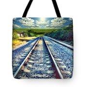 Railroad To Heaven Tote Bag