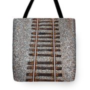Railroad Track With Gravel Bed Tote Bag