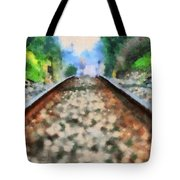 Railroad Tracks In The Summer Heat Tote Bag