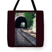 Railroad Tracks At Conway Castle, Wales  Tote Bag
