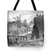 Railroad Washout, 1885 Tote Bag