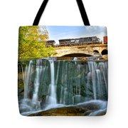 Railroad Waterfall Tote Bag