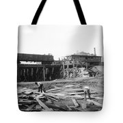Railroad Workers, 1901 Tote Bag