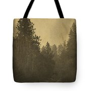 Rails In The Rogue Valley - Vintage Effect Tote Bag
