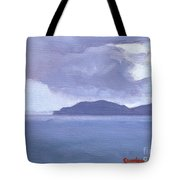 Rain Across The Channel Tote Bag
