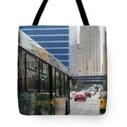 Rain And Bus Tote Bag