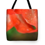 Rain Dance - Red Flower Photography By Sharon Cummings Tote Bag