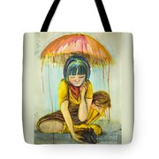Rain Day  Tote Bag by Angelique Bowman