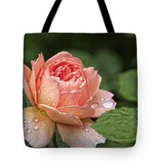 Rain Drenched Rose Tote Bag