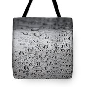 Rain Drops On Stainless Steel Tote Bag