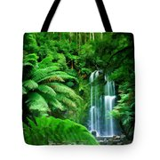 Rain Forest And Waterfall Tote Bag