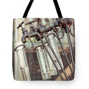 Rain Guages Tote Bag by Tom Gowanlock