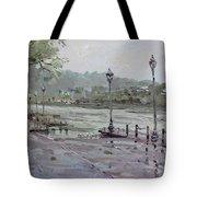 Rain In Lewiston Waterfront Tote Bag