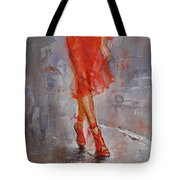 Rain In Manhattan Tote Bag