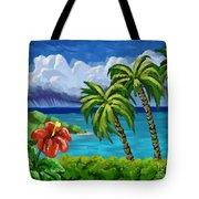 Rain In The Islands Tote Bag