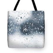 Rain In Winter Tote Bag