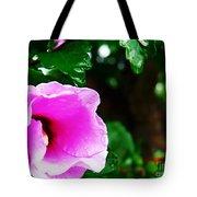 Rain Kissed Flower Tote Bag