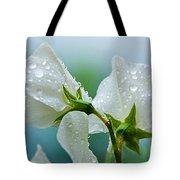 Rain On Sweet Peas Tote Bag
