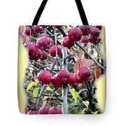 Rain On The Crab Apples Tote Bag