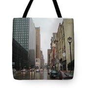 Rain On Water Street 2 Tote Bag