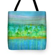 Rain  Original Contemporary Acrylic Painting On Canvas Tote Bag