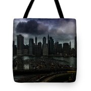 Rain Showers Likely Over Downtown Manhattan Tote Bag