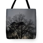 Rain Storm Clouds And Trees Tote Bag