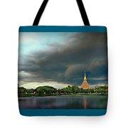 Rain Storm Lake View Tote Bag
