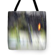 Rain Streaked City Scenes Tote Bag