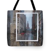 Rain Water Street W City Hall Tote Bag